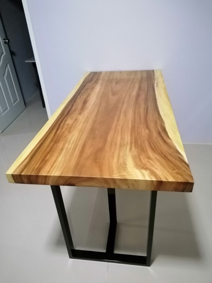 solid wood slab office table