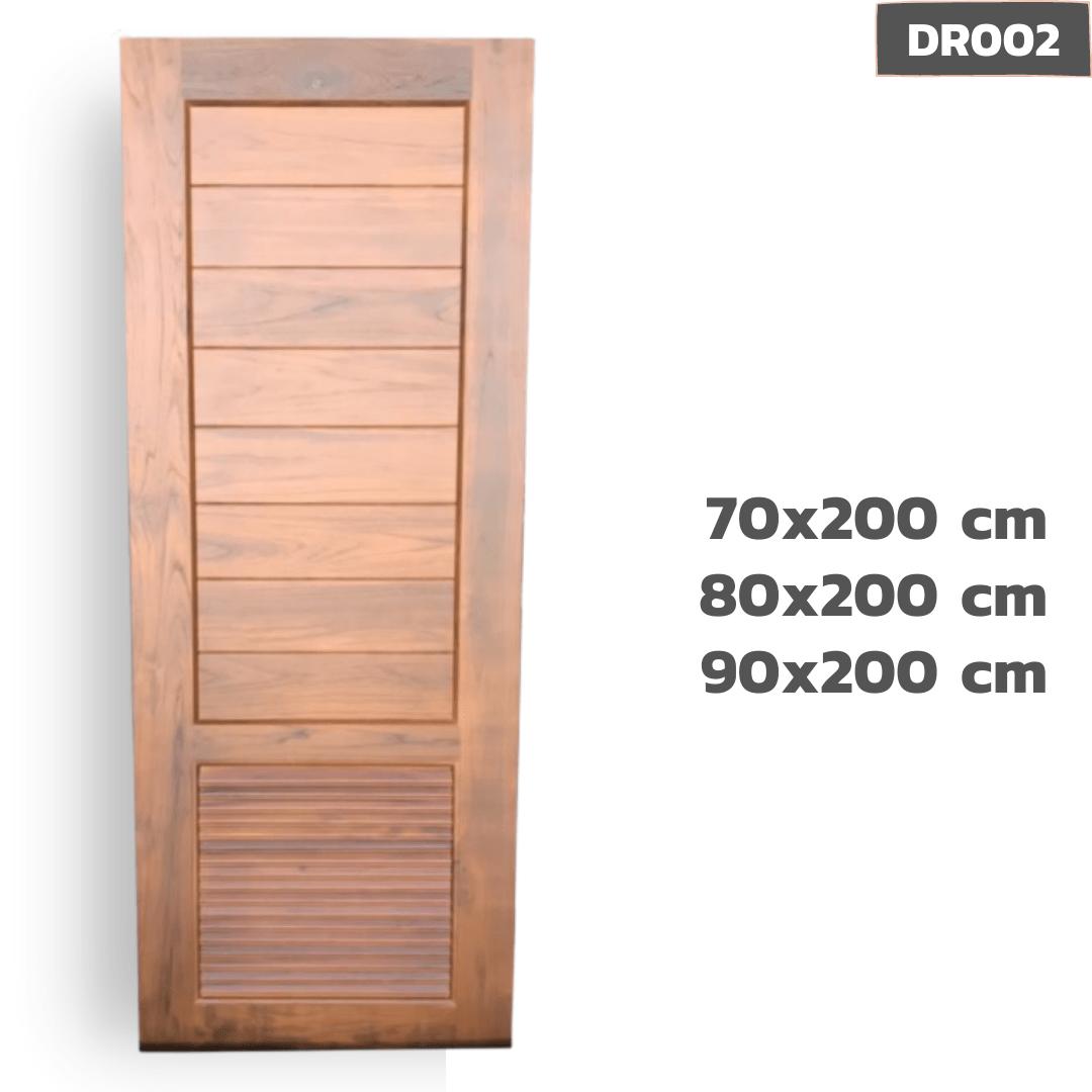 ประตูไม้สัก DR002