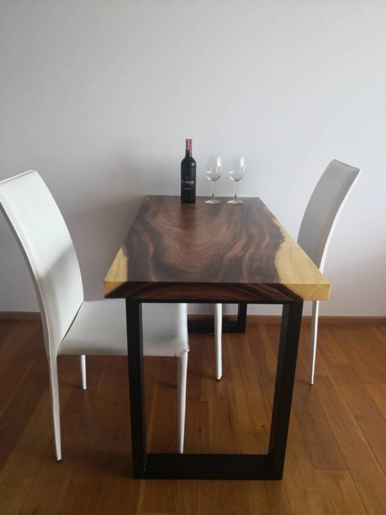 dinning wood slab table