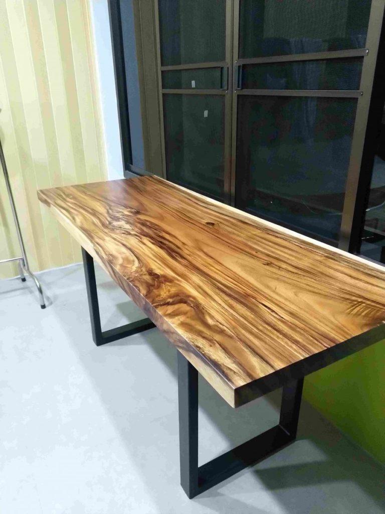 solid wood slab office desk