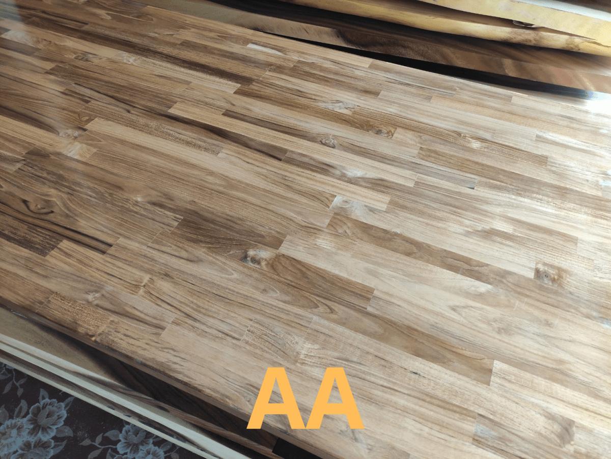 ไม้สักประสานแผ่น AA
